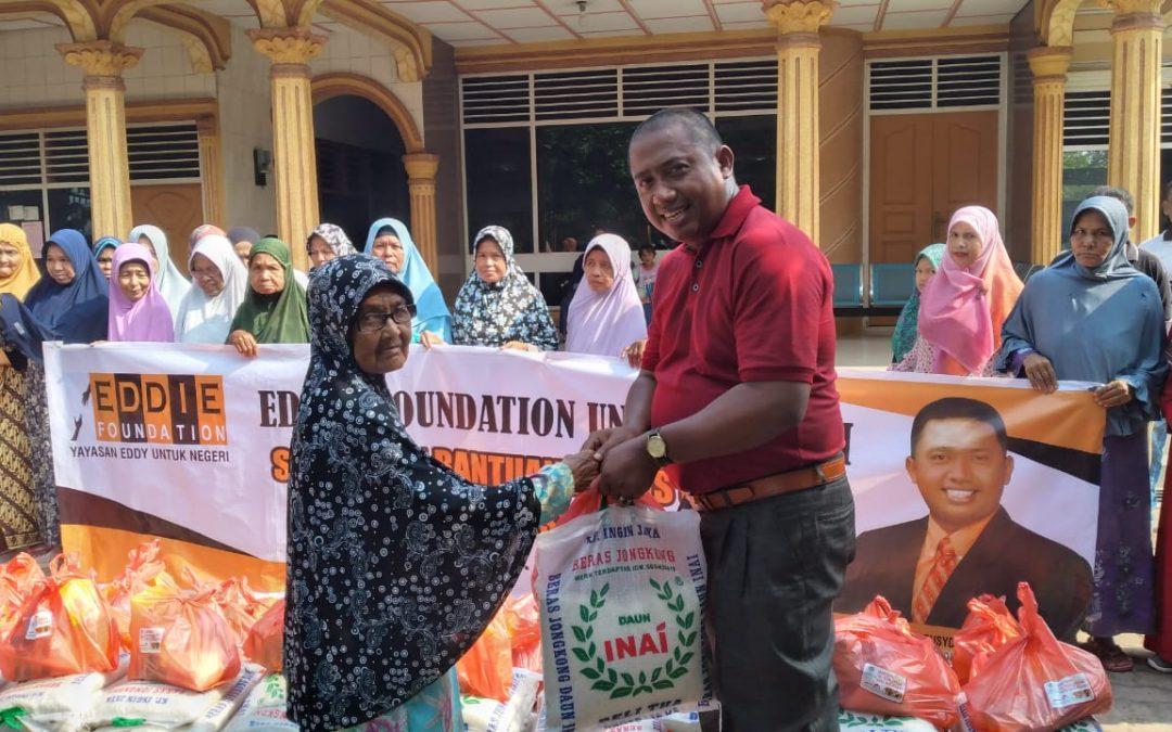 Eddie Foundation Hadir untuk Negeri Salurkan Bantuan untuk Masyarakat Aceh